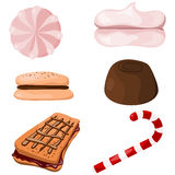 Set of sweets. Cartoon Royalty Free Stock Photography