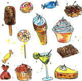 Set of sweets Stock Image