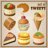 Set of sweets Royalty Free Stock Image