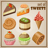Set of sweets. Royalty Free Stock Photography