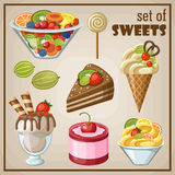 Set of sweets Stock Photo