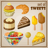 Set of sweets Royalty Free Stock Photo