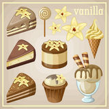 Set of sweets vanilla. Stock Images