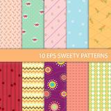 Set of Sweety Graphic Pattern Royalty Free Stock Photos