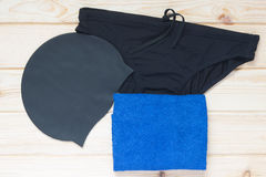 Set for swimming lessons in the pool Stock Photography