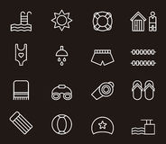 Set of swimming pool icons Royalty Free Stock Image