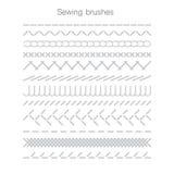 Set of swing seams. Vector illustration Royalty Free Stock Photo