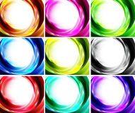 Set of swirl backgrounds Stock Photos