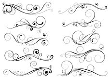 Set of swirl design elements Stock Photo