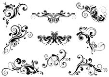 Set of swirl design Royalty Free Stock Image