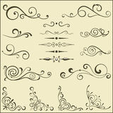 Set of swirl elements for design. Stock Images