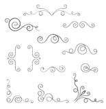 Set of swirl elements for design. Royalty Free Stock Image