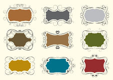 Set of swirl frame Royalty Free Stock Images