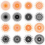 Set of swirl rounded design elements Stock Photos