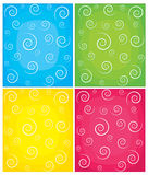 Set of swirl vector backgrounds. EPS 8 Stock Photos