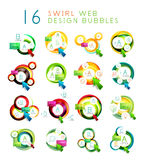 Set of swirl web design infographic bubbles Stock Photo