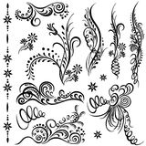 Set swirling decorative elements Royalty Free Stock Photography