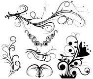 Set of swirling graphic elements vector Royalty Free Stock Image