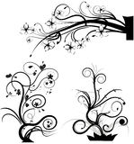 Set of swirling graphic elements. Vector Royalty Free Stock Image