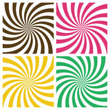 Set of Swirling Radial Backgrounds Stock Photography