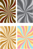 A set of swirly rays. A set of different colored swirly rays Stock Images