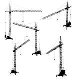 Set sylwetki budowa żuraw ilustracji