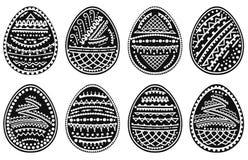 Set sylwetki Wielkanocni jajka również zwrócić corel ilustracji wektora ilustracji