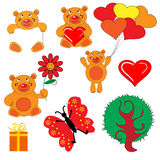 set symbol för björn Royaltyfri Bild