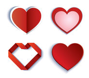 Set of symbol heart Stock Images