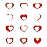 Set of symbol heart Stock Photos