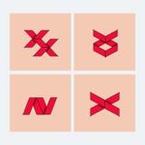 Set of minimal geometric monochrome symbol set, shapes. Trendy icons and logotypes. Religion, philosophy, spirituality, occultism Stock Image