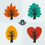 Set symbol tree Stock Photo