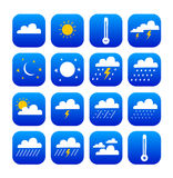 Set symbol of weather. Vector set of symbol weather  and climate (isolated Stock Image