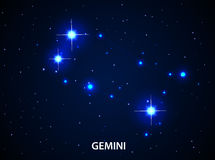 Set of Symbol Zodiac Gemini Stock Photography