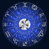 Set of Symbol Zodiac Sign Diamond. Vector Royalty Free Stock Photos