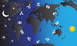 Set of Symbol Zodiac Sign. Vector Illustration. Royalty Free Stock Photo