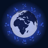 Set of Symbol Zodiac Sign. Vector Illustration. Royalty Free Stock Photos