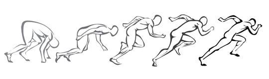 Set Symbole, die Mann laufen lassen Stockfotos