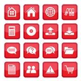 Set symboler för kontor Royaltyfri Fotografi