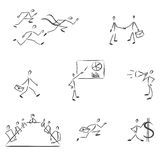 Set of symbolic business people Stock Images
