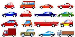 Set of symbolic cars Royalty Free Stock Image