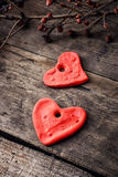 Set of symbolic hearts royalty free stock images
