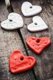 Set of symbolic hearts Royalty Free Stock Photos