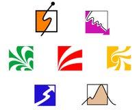 Set of symbols. Set of color symbols isolated on white Royalty Free Stock Photos