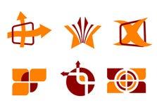 Set of symbols. Set of color symbols isolated on white Stock Image