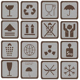 Set of symbols Royalty Free Stock Photos