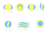 Set of symbols Stock Image