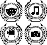 Set of symbols of achievement Royalty Free Stock Photography