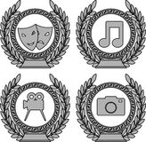 Set of symbols of achievement Stock Photography