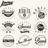 Set of symbols for Best Quality, Original Brand, New Product. Royalty Free Stock Photos